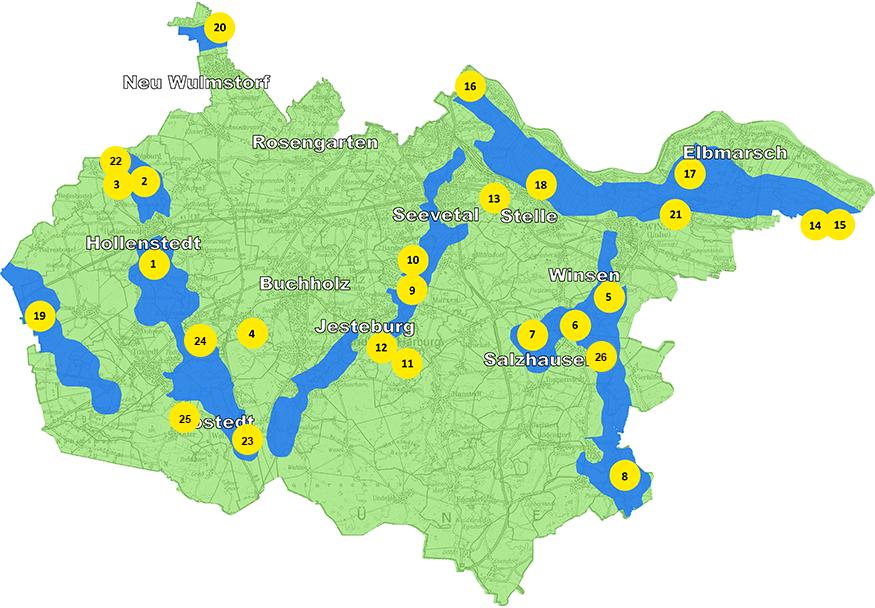 Karte Kompensationsflächen©Landkreis Harburg