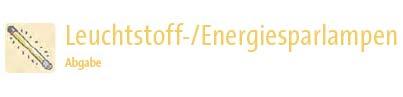 Rücknahmestellen Leuchtstoffröhren